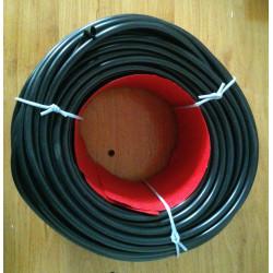Macarrón negro para cables. Ø 8mm.