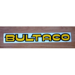 Bultaco adhesive yellow letter black profile.