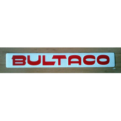 Adhesive Bultaco, red letter white profile.