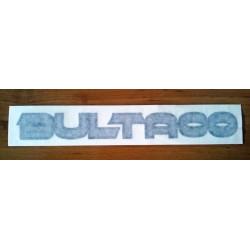 Adhesive Bultaco, gray letter black profile.