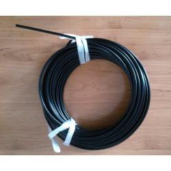Funda de cable acero laminado para acelerador. Negra. Ø 5mm.