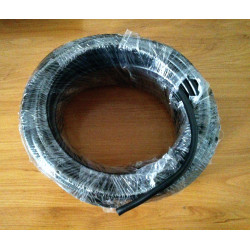 Rubber gasoline tube black. 6 x 9 mm.