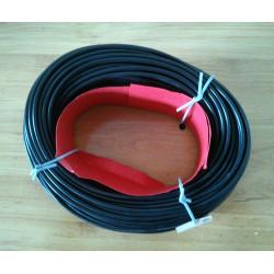 Macarrón negro para cables. Ø 4mm.