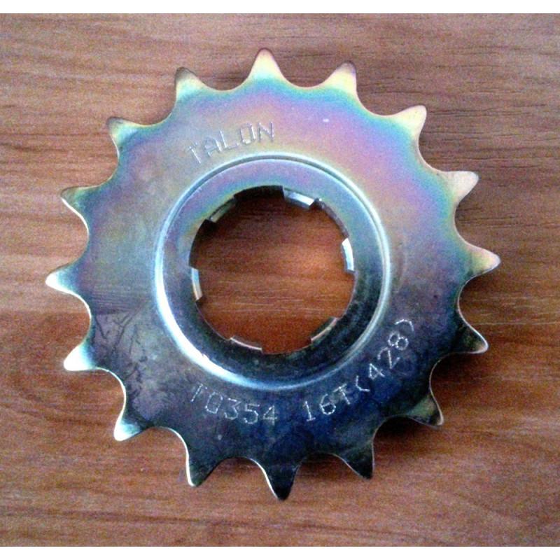 Bultaco front sprocket 428. 16 teeth.
