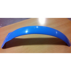 Blue front fender trial.