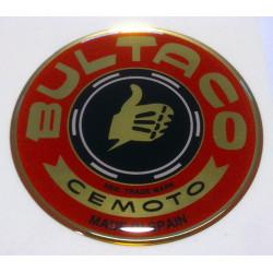 Anagrama deposito Bultaco, color rojo.