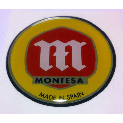 Thick tank badges for Montesa Cota 25.