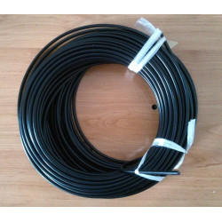 Funda de cable acero laminado para embrague. Negra. Ø 6mm. Con Teflon.