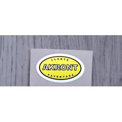 Adhesivos Akront amarillo.
