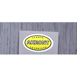 Akront yellow sticker.