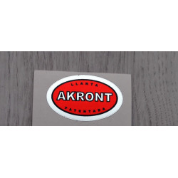 Akront red sticker.