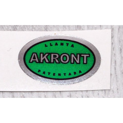 Akront green sticker.