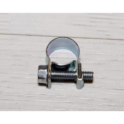 Abrazadera con tornillo para tubos gasolina 10-12 mm.