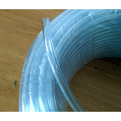Transparent gasoline tube. 6 x 9 mm.