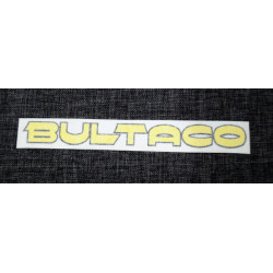 Adhesive Bultaco yellow.