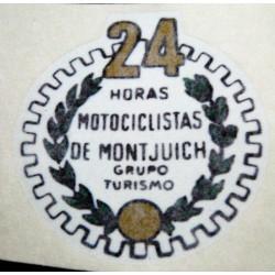 Adhesive Bultaco 24H white.