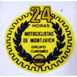 Adhesive Bultaco 24H yellow.