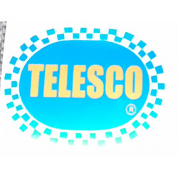 Telesco adhesive, blue background color.