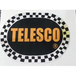 Adhesivo Telesco, fondo color negro.