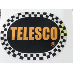 Telesco adhesive, black background color.