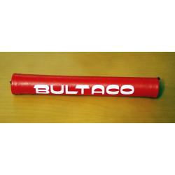 Protector manillar Bultaco rojo.
