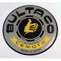 Anagrama deposito Bultaco, color gris.