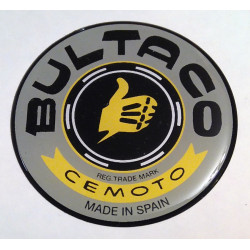 Thick gray tank badges for Bultaco.