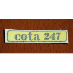 Yellow Sticker Cota 247.
