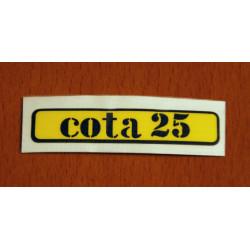 Yellow Sticker Cota 25.