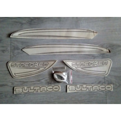 Adhesives Bultaco Streaker black set.