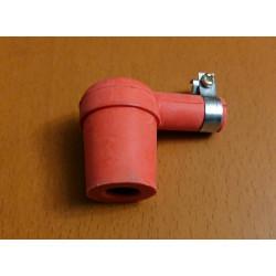 Silicone spark plug cap. Red.