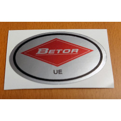 Betor chrome adhesive oval.