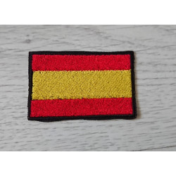 Embroidered patch flag Spain.