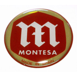 Thick tank badges for Montesa.