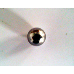 Highly precise steel ball. Ø 5,556 mm.