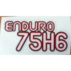Montesa Enduro 75 H6 decal.