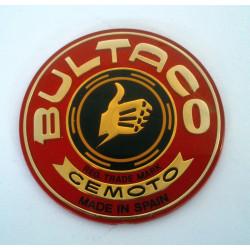 Anagrama deposito Bultaco original, color rojo.