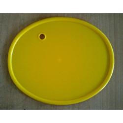 Placa porta números clásica color amarillo