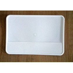 Trial number plate holder Sherpa Ossa, white.
